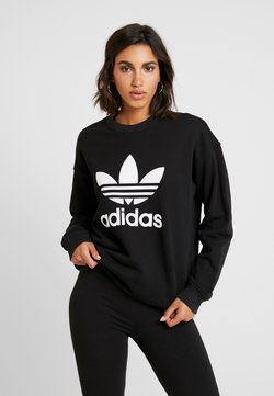 adidas Originals - CREW ADICOLOR - Sweater - black/white