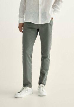 Massimo Dutti - MIT KONTRASTEN  - Jeans slim fit - khaki