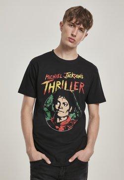 Mister Tee - HERREN MICHAEL JACKSON THRILLER PORTRAIT TEE - T-Shirt print - black