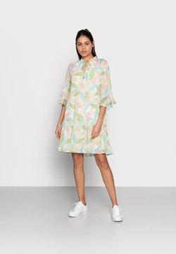 Esqualo - DRESS LAYERS VIRTUAL GARDEN - Freizeitkleid - multi-coloured