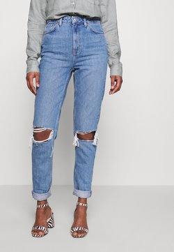 Topshop Tall - MOM DOUBLE - Jeans Relaxed Fit - blue denim