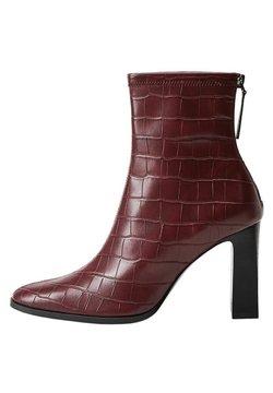 Mango - PUNTO - High heeled ankle boots - granate
