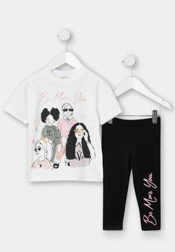 River Island - Camiseta estampada - cream