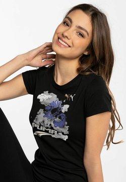 Reebok - T-shirt z nadrukiem - black