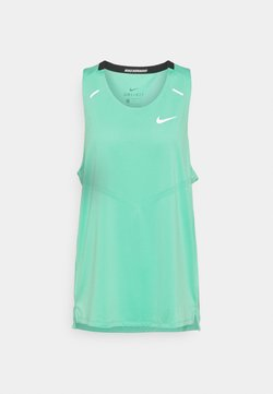 Nike Performance - RISE 365 TANK - Funktionströja - green glow/reflective silver