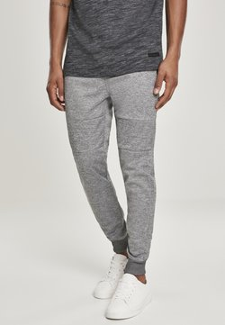 Southpole - HERREN ZIPPER POCKET MARLED TECH FLEECE JOGGER - Jogginghose - marled grey