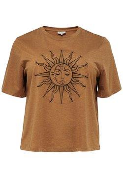 ONLY Carmakoma - T-Shirt print - glazed ginger