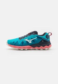 Mizuno - WAVE DAICHI 6 - Zapatillas de trail running - scuba blue/snow white/tea rose