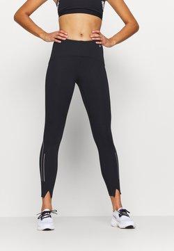 Nike Performance - SPEED 7/8 MATTE - Tights - black/gunsmoke