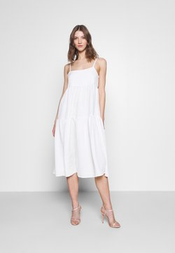 YAS - YASJANNA STRAP MIDI DRESS CELEB - Ballkleid - star white