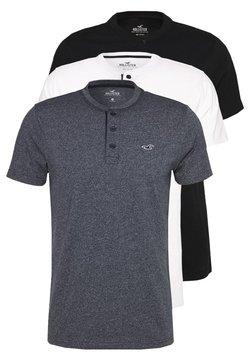 Hollister Co. - HENLEY 3 PACK - T-shirt basique - white/navy/black