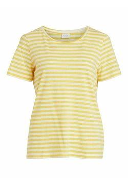 Vila - VISUS NOOS - T-Shirt print - spicy mustard 2