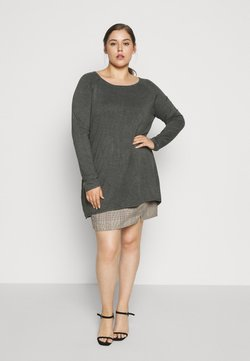Even&Odd Curvy - Strickpullover - dark grey