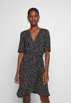 Saint Tropez - MINA DRESS ABOVE KNEE - Trikoomekko - black