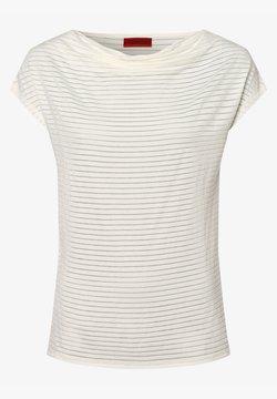 HUGO - T-Shirt print - ecru
