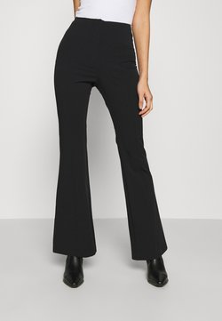 Monki - VIOLET TROUSERS - Bukse - black dark