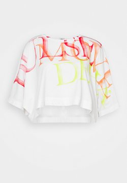 Deha - WIDE CROP - Camiseta estampada - white