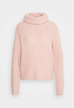 Anna Field - Roll neck- ribbed - Jersey de punto - rose
