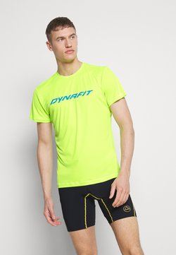 Dynafit - TRAVERSE TEE - Camiseta estampada - fluo yellow