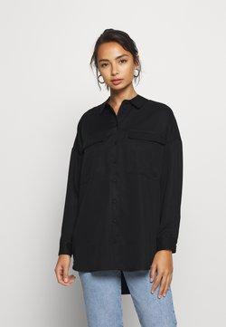 Selected Femme Petite - SLFMIRANDA LONG - Camisa - black