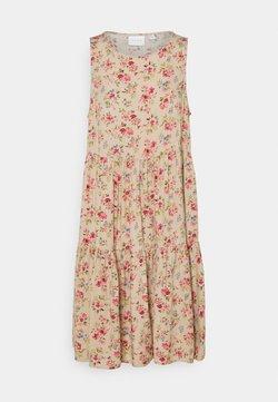 Vila - VICARE LAYER DRESS - Vapaa-ajan mekko - nude
