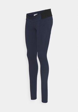 MAMALICIOUS - MLREYNA - Leggings - navy blazer