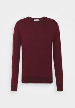 Calvin Klein - C NECK SWEATER - Stickad tröja - tawny port