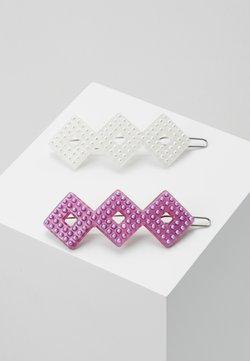 Valet Studio - HARPER CLIPS 2 PACK - Accessoires cheveux - pink/white