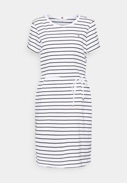Tommy Hilfiger - COOL SHORT DRESS  - Jerseykleid - white/sky