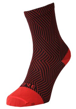 Gore Wear - GORE® C3 SOCKEN MITTELLANG - Sportsocken - red/black