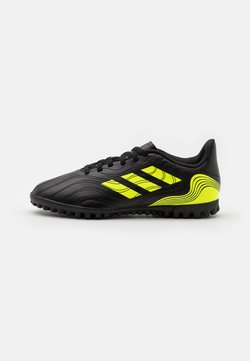 adidas Performance - COPA SENSE.4 TF UNISEX - Chaussures de foot multicrampons - core black/solar yellow