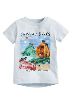Next - SUNNY DAYS FARM - Printtipaita - light blue