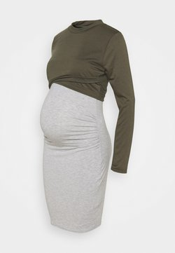Missguided Maternity - 2IN1 LAYERED DRESS - Robe en jersey - grey