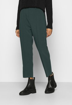 Anna Field - BASIC BUSSINESS PANTS WITH PINTUCKS  - Stoffhose - dark green