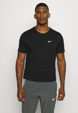 Nike Performance - MILER  - T-Shirt basic - black/silver