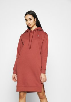 G-Star - GRAPHIC TEXT BF HOODED - Strickkleid - cinnamon red