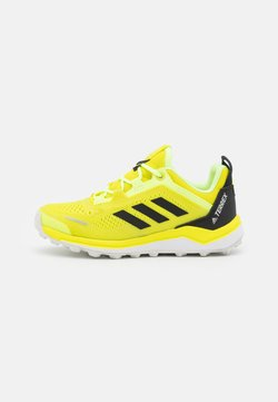 adidas Performance - TERREX AGRAVIC FLOW UNISEX - Obuwie hikingowe - acid yellow/core black/hi-res yellow