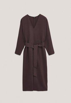 Massimo Dutti - Sukienka letnia - bordeaux