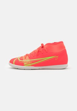 Nike Performance - MERCURIAL 8 CLUB IC - Indoor football boots - bright crimson/metallic silver
