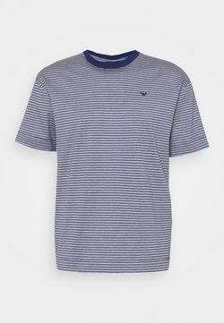 Emporio Armani - T-Shirt print - dark blue/white