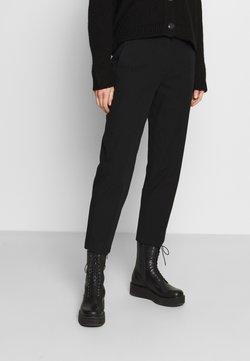 Marc O'Polo - PANTS STRAIGHT LEG - Stoffhose - black