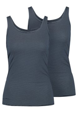 Schiesser - TRÄGERTOP 2 PACK - Unterhemd/-shirt - nachtblau
