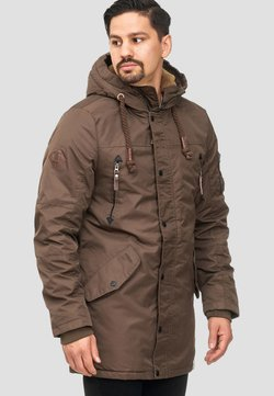 INDICODE JEANS - BARDSLEY - Wintermantel - mottled brown