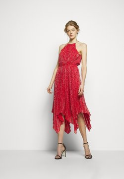 MICHAEL Michael Kors - PLEATD HALTR - Cocktail dress / Party dress - crimson