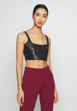 Nly by Nelly - CROP TOP - Blusa - black