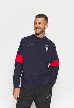 Nike Performance - FRANKREICH FFF AIR CREW - Sweatshirt - blackened blue/university red/white