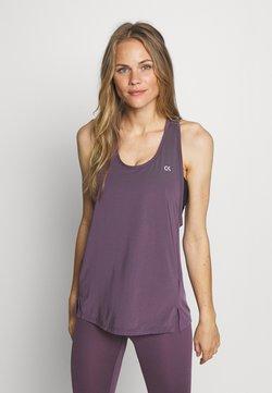 Calvin Klein Performance - TANK - Tekninen urheilupaita - purple