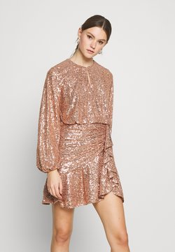 Forever New - ANDREA FLIPPY MINI DRESS - Cocktail dress / Party dress - copper