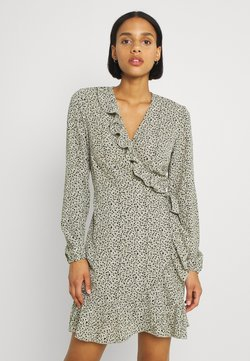 ONLY - ONLCARLY WRAP SHORT DRESS - Kjole - seagrass