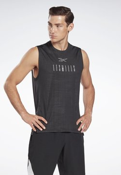 Reebok - MILLS® SMARTVENT SLEEVELESS T-SHIRT - Funktionsshirt - black